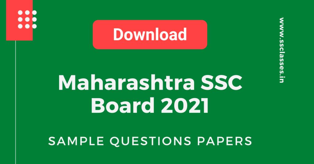 Maha SSC Exam 2021 Sample Paper_ Marathi & English Medium