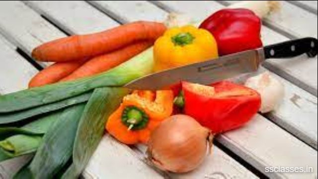Applications of Physics in cutting of vegetables and fruits